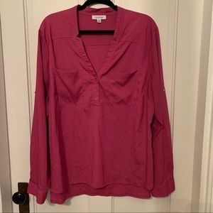 Calvin Klein pink blouse 👚 women's size 2X GUC
